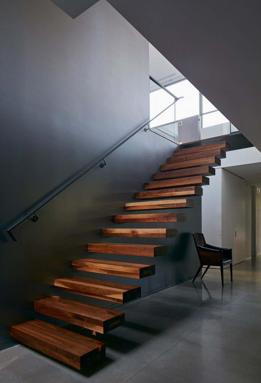25 Best Ideas About Modern Staircase On Pinterest: Contemporary Canadian Lake House Features Black Dyed Cedar