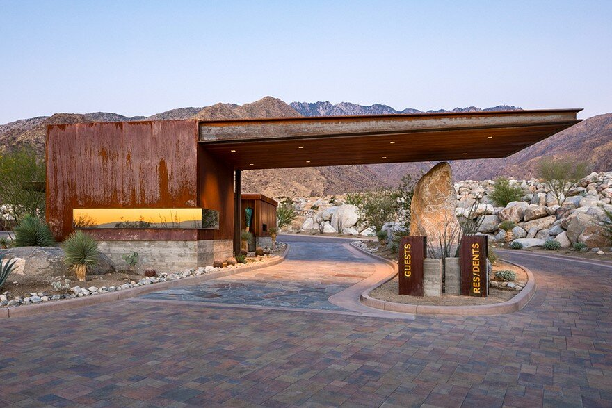 Desert palisades guard house by studio ar d architects - Villa decor desert o architecture ...