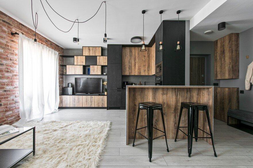 Industrial Modern Apartment In Vilnius Lithuania - Modern-apartment-design