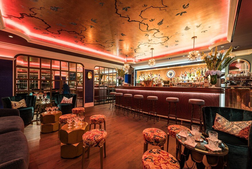Interior Designers Lambart & Browne Embellish Conceptual Design and Chic Luxury for Monte Carlo Restaurant
