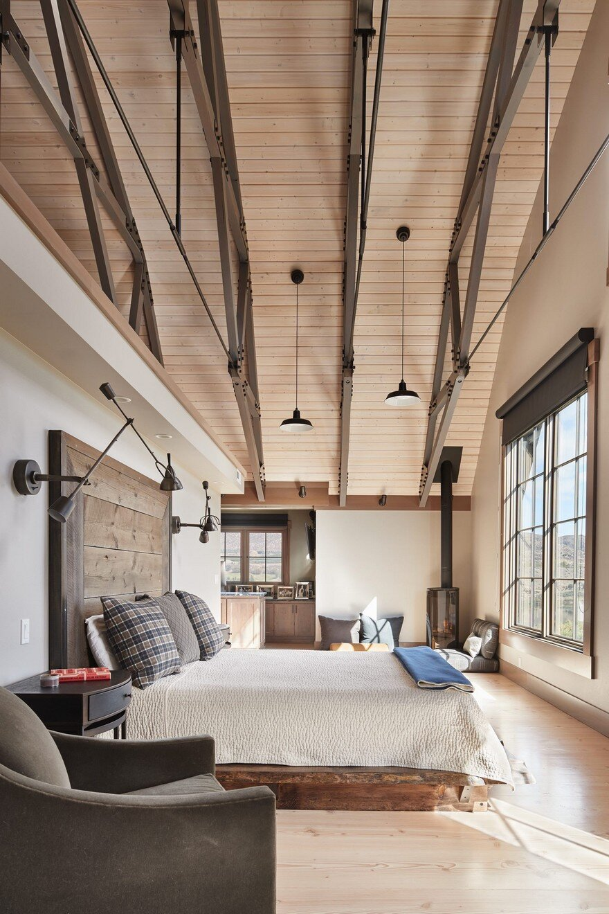 This Barn Retreat Combines Traditional Gambrel Barn Shapes