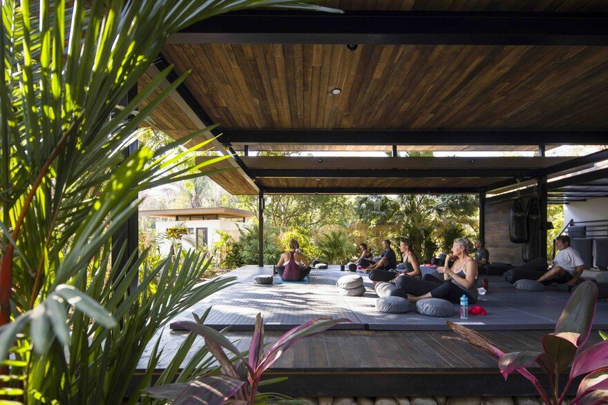 Yoga Studio And Boutique Hotel Set Into In Tropical