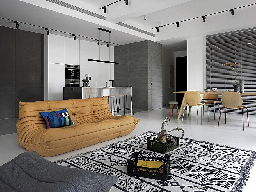 Contemporary Apartment Personalized in Gray and White