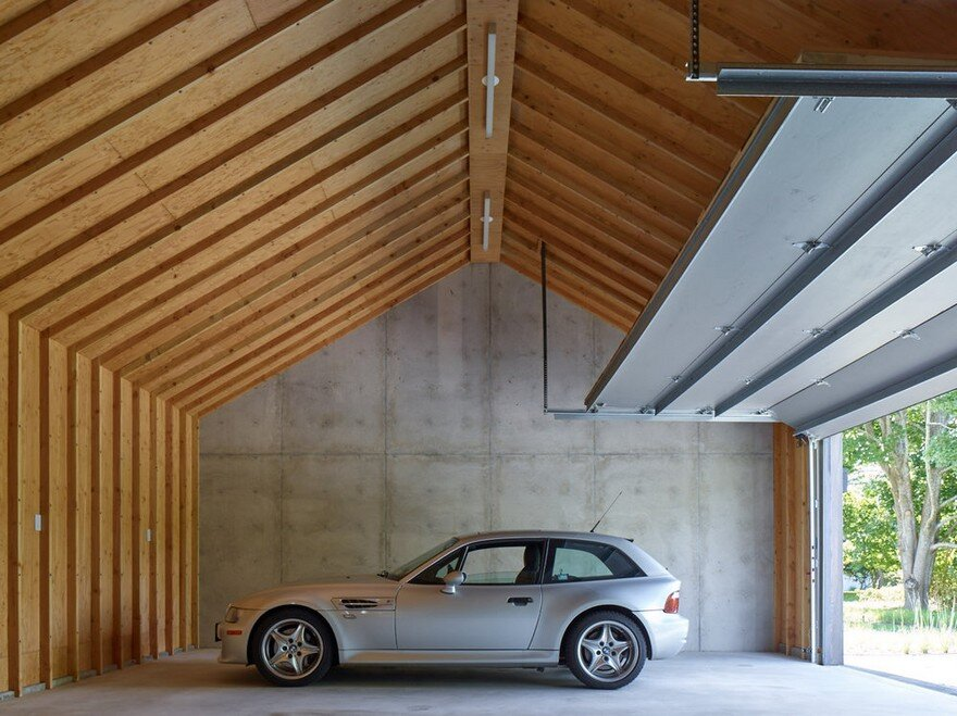Double Detached Carport With Vaulted Ceiling : Amagansett house is a maintenance free home consists of