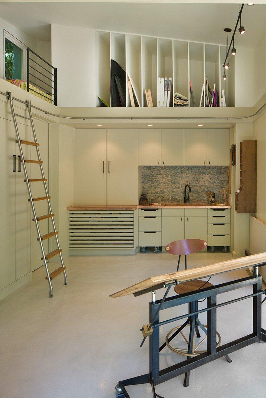 Backyard Art Studio Designed For A Retired Art Teacher
