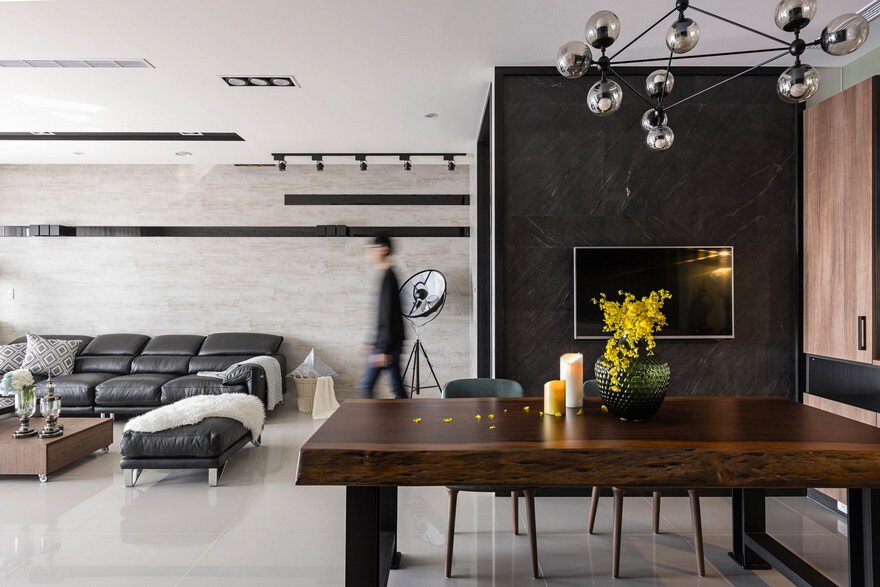 Contemporary Hsinchu Apartment with a Defining Mixture of Styles