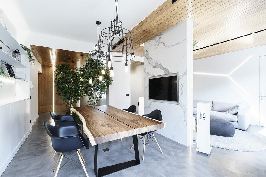 Live work apartment in rome by brain factory studio for Studio design roma