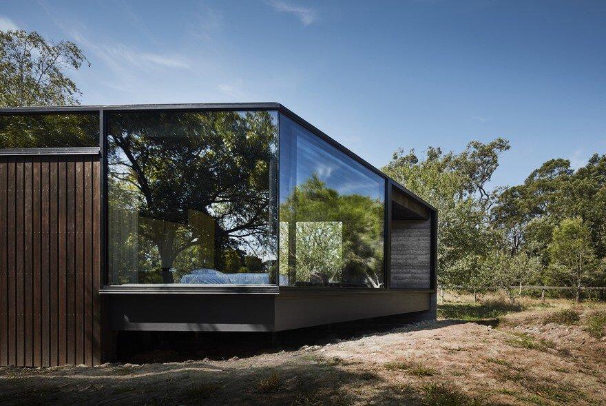 modern pavilion designed like a extension to an existing. Black Bedroom Furniture Sets. Home Design Ideas