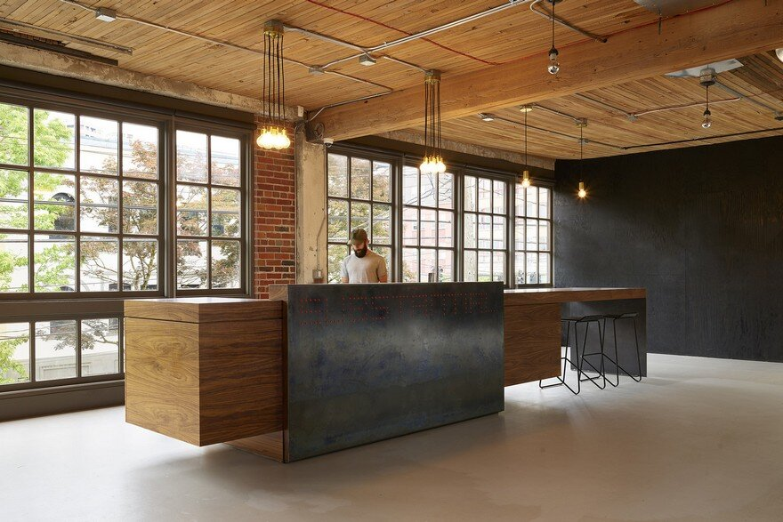 Open plan office created by gocstudio for substantial for Open plan office design