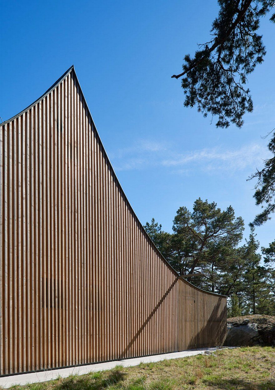 This Scandinavian Wooden House Has A Tent Like Roof Over A