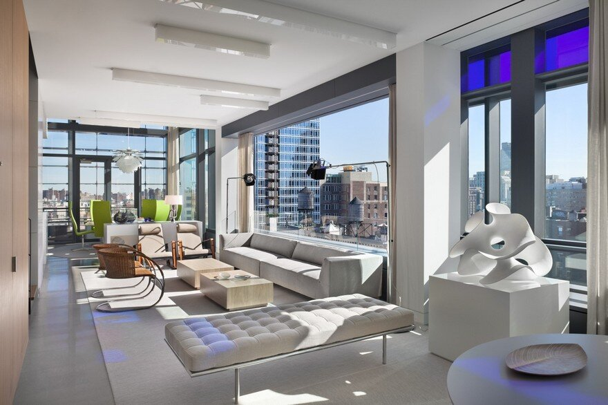 Soho Penthouse Duplex in Jean Nouvel's iconic 40 Mercer Street Building