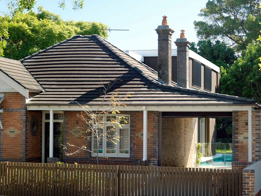Two storey addition at the back of a single storey 1910 for Pool house additions