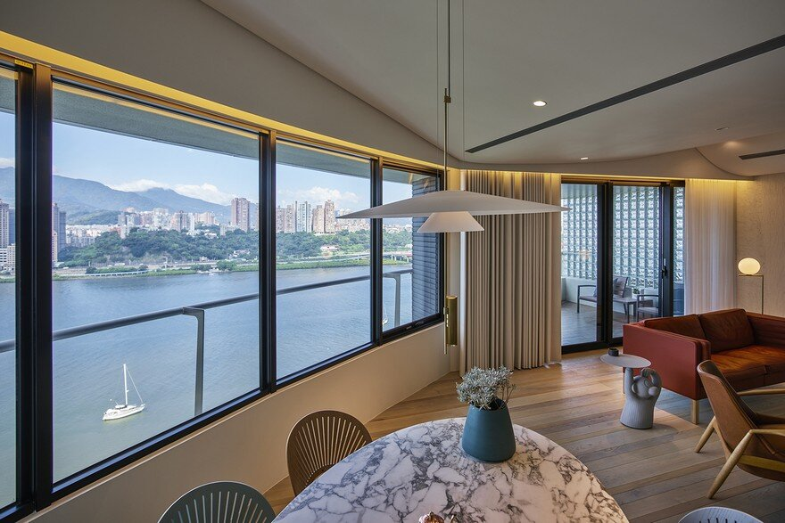 Creative Textures and Colors Optimize Taipei Apartment by Waterfrom Design