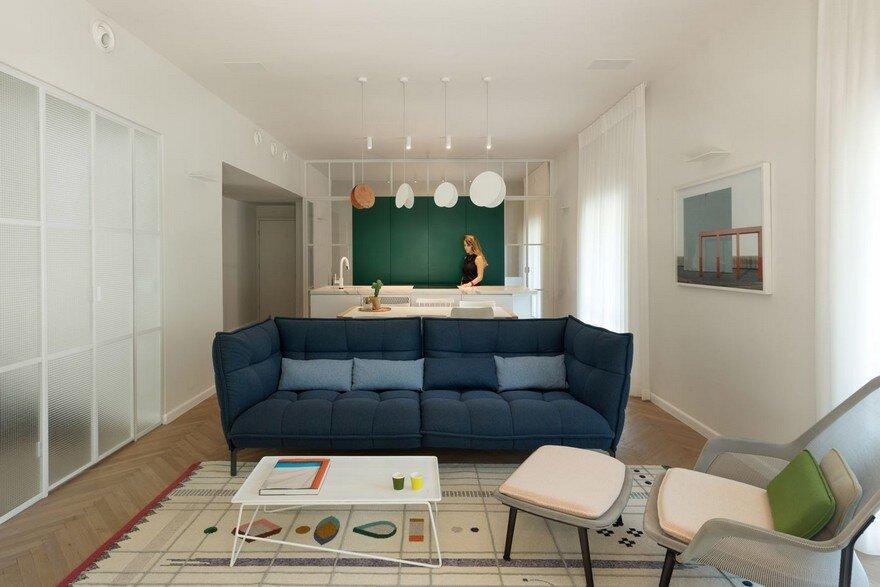 Family Apartment Renovation in a Preserved Bauhaus Building, Tel Aviv