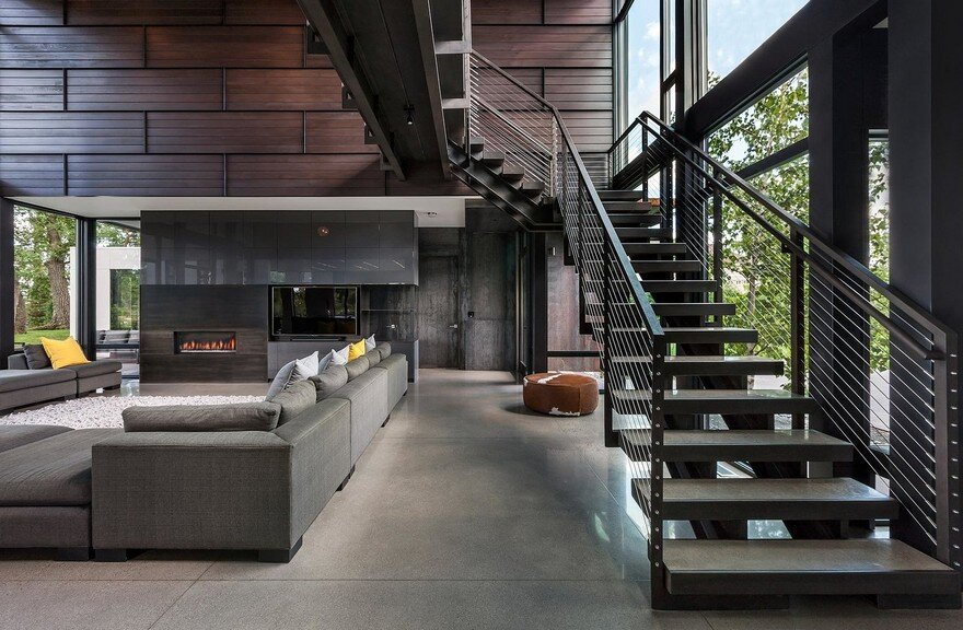 Industrial Modern House Designed to Promote the Outdoors ...