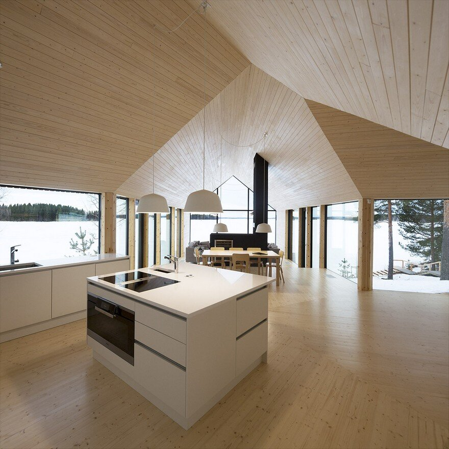 This Modern Finnish House Consists of Three Barns Put