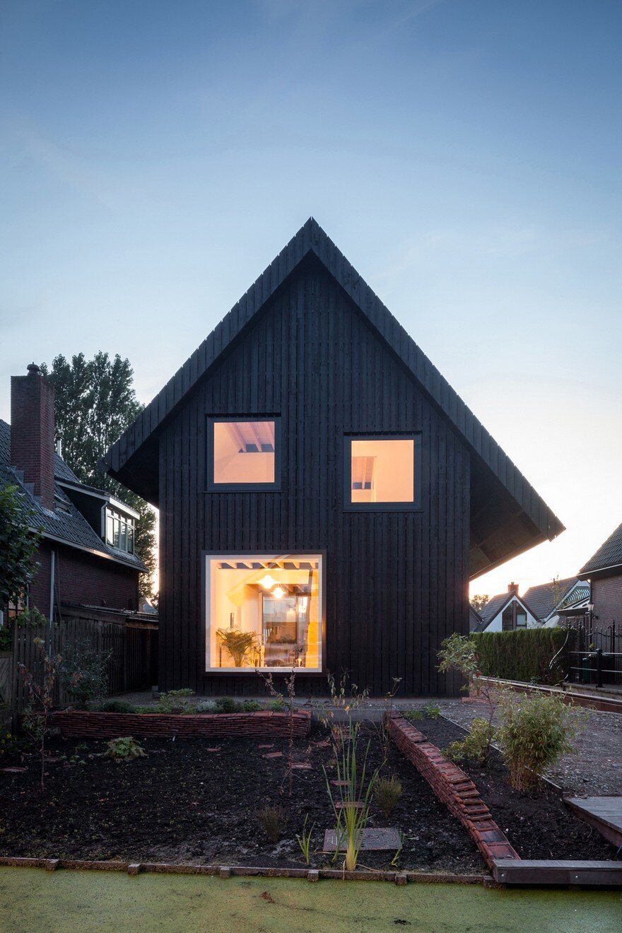 Exterior: Old Brick House Replaced By A New Sustainable Timber House