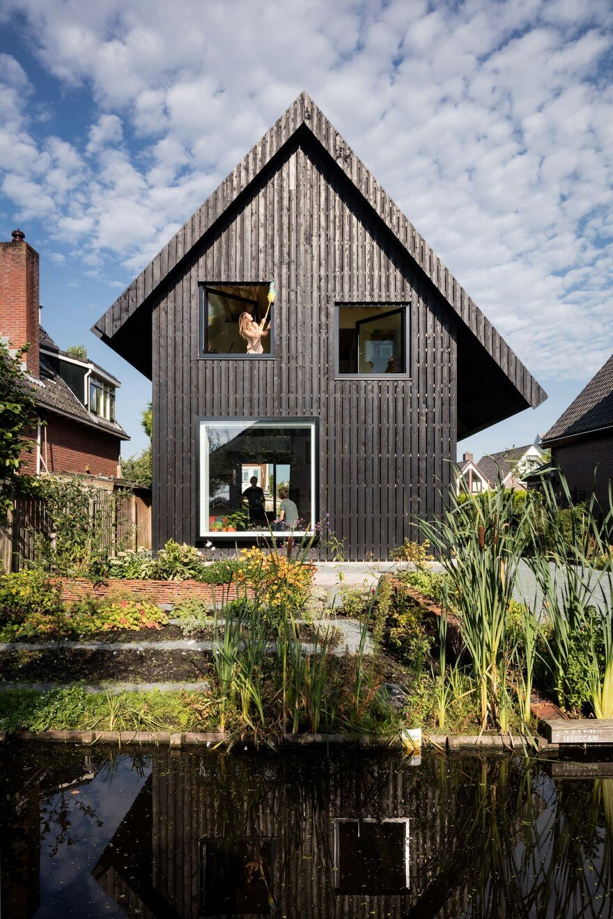 Old Brick House Replaced By A New Sustainable Timber House
