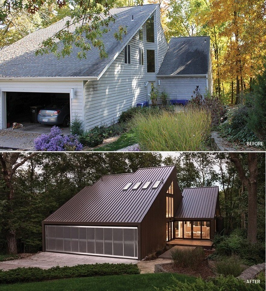 Renovation Of A Private Residence On A Wooded Site Near