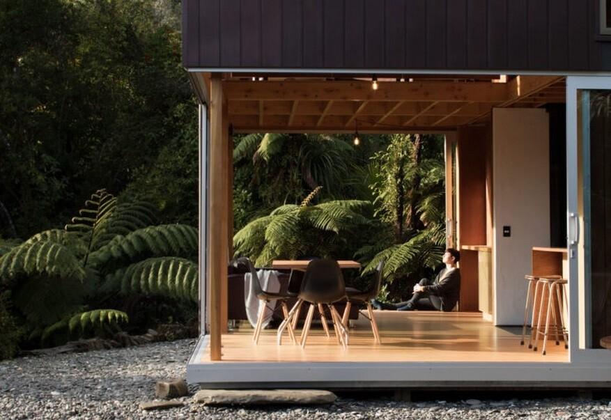 Small Coastal Cabin Located Near the Wild Coastline of the Tasman Sea