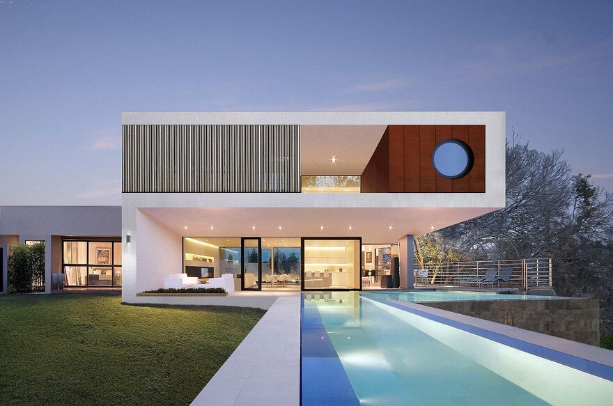 Built for Two Rock Star Clients, This Home Rests Lodged Between Two Rocks