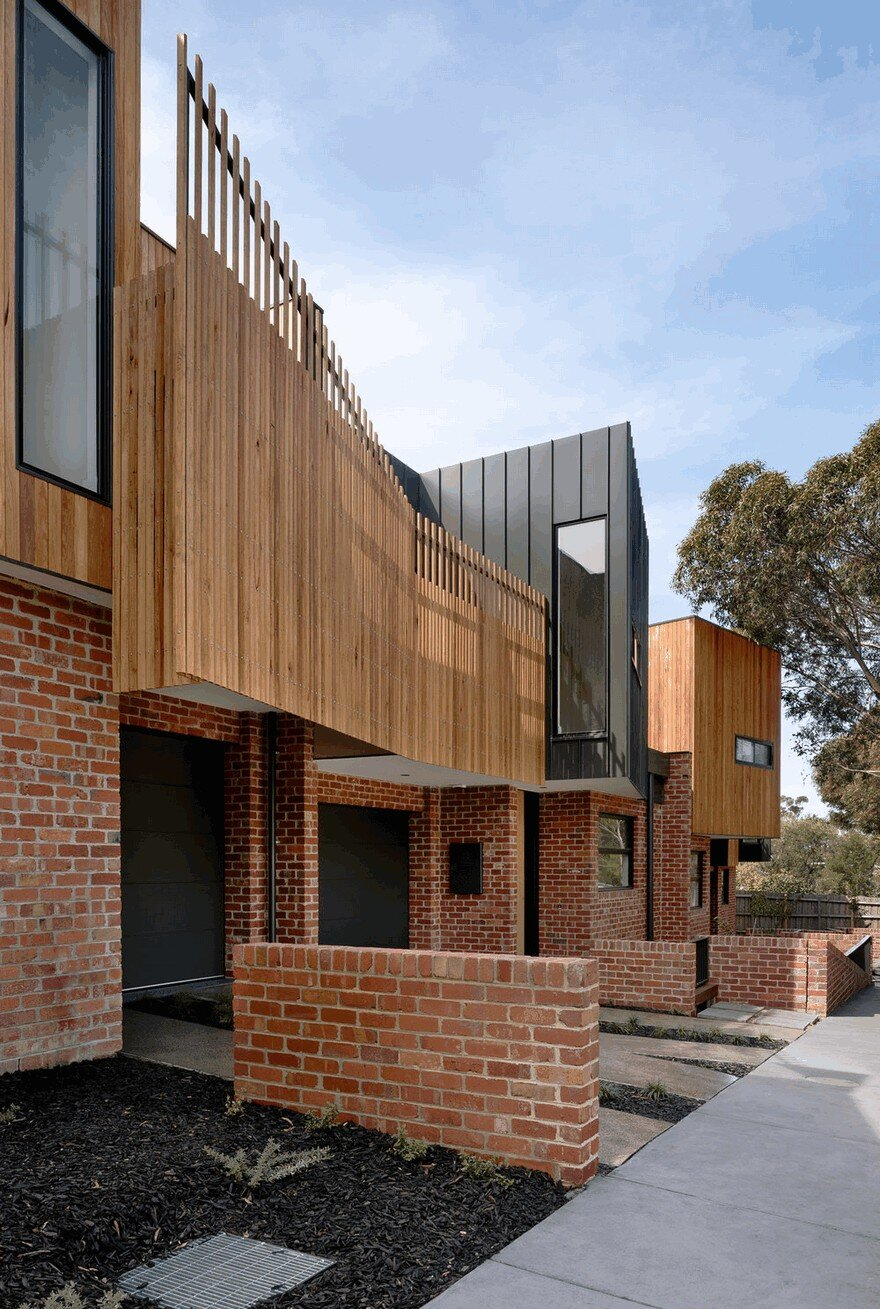 innovative outdoor living room melbourne allweather shelters | Alphington Townhouses by Green Sheep Collective