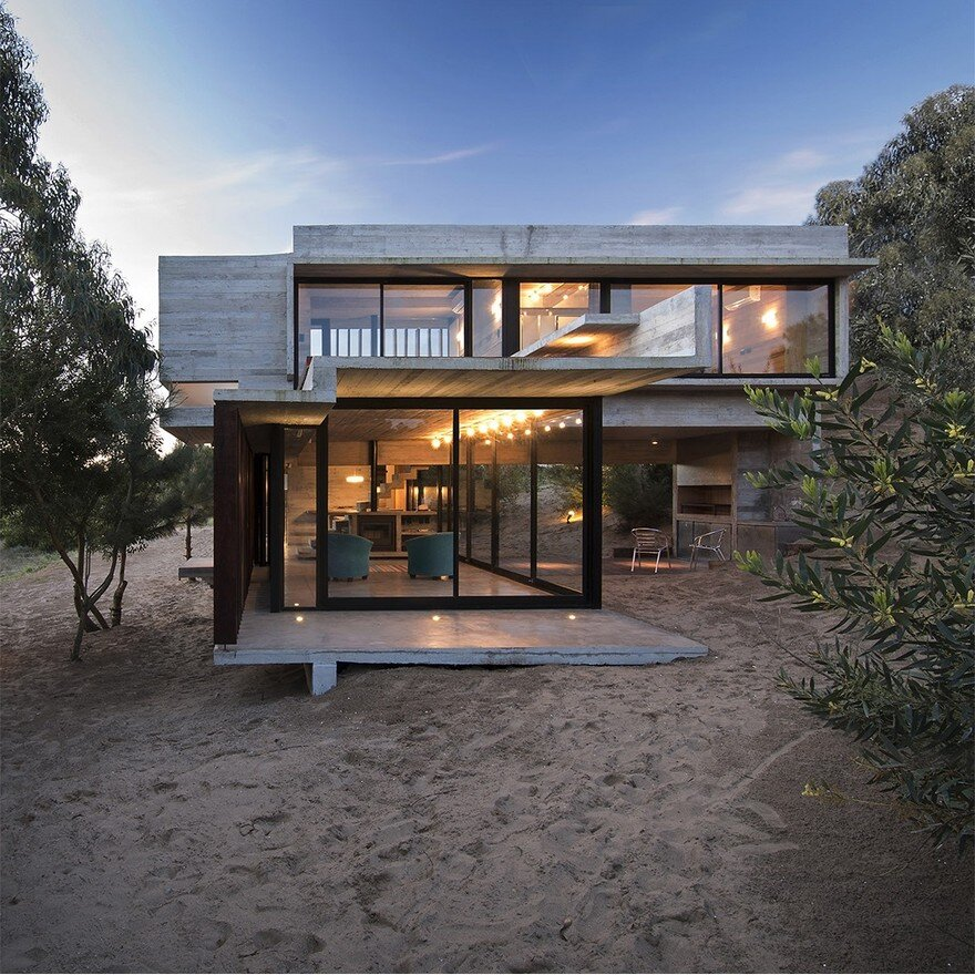 House Home: Concrete Weekend Retreat In Buenos Aires, Argentina