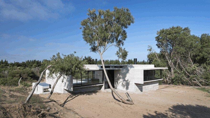 Concrete Summer House in Costa Esmeralda, Argentina