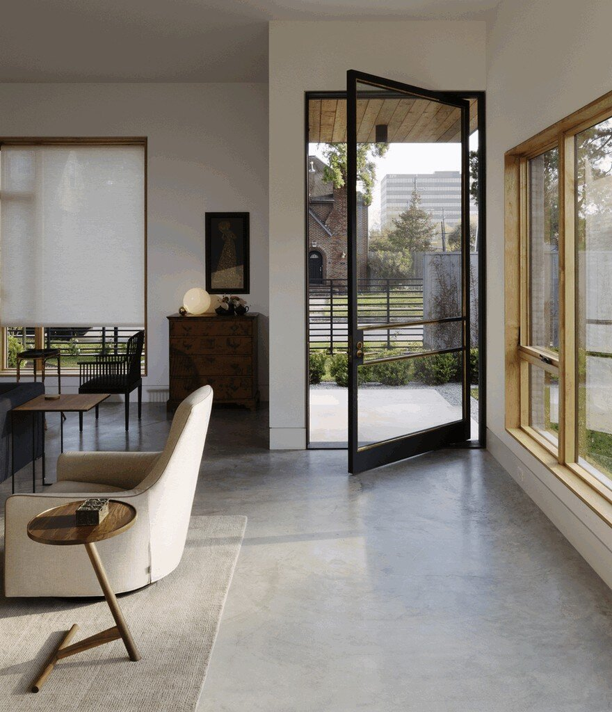 Contemporary House Mixing Vintage And Modern Details In