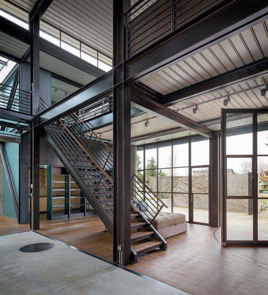 Industrial Home Design Spectacular Modern Industrial Home: Contemporary Industrial House Features An Expressive