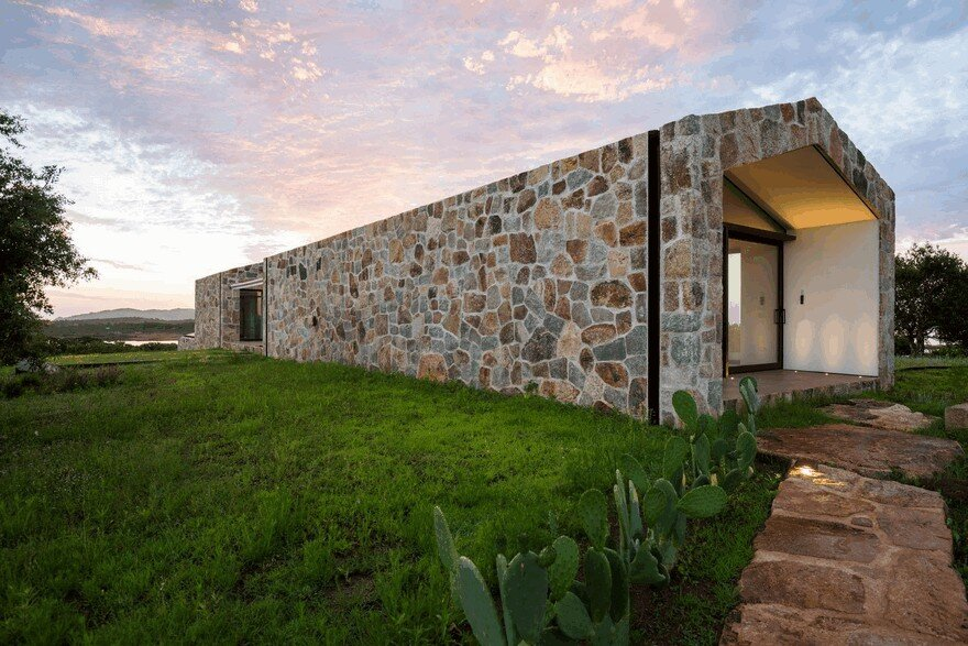 Contemporary Stone House Inspired By The Old Rural