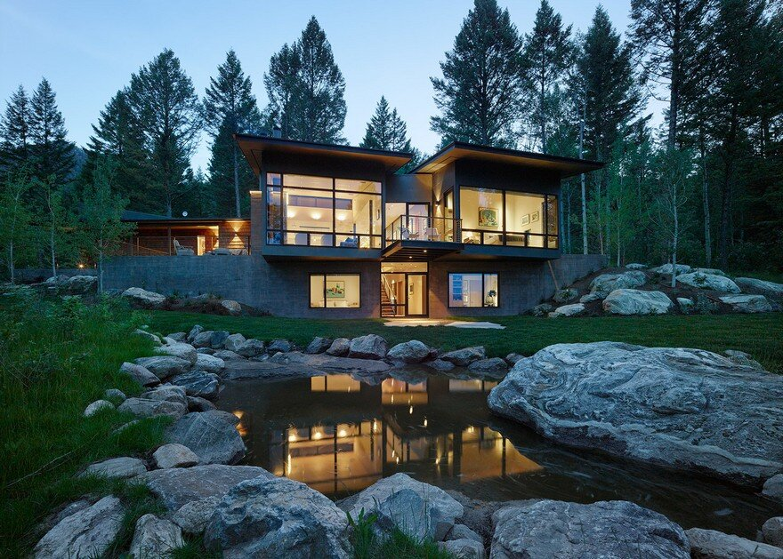 Fish Creek Compound in Western Wyoming / Carney Logan Burke Architects