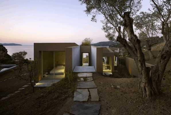 This Greek Vacation Home is Conceived as a Series of Parallel Adjoining Rooms