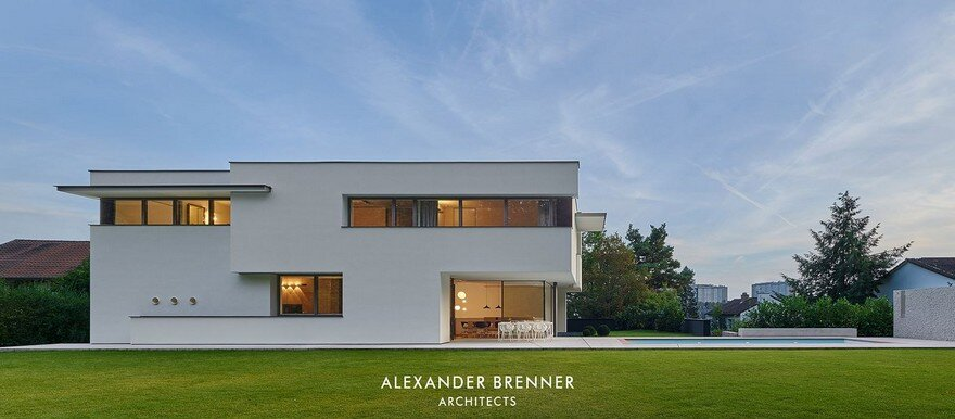 haus am wald residence in stuttgart alexander brenner architects. Black Bedroom Furniture Sets. Home Design Ideas