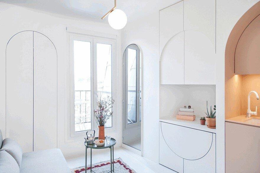 11 sqm Paris Studio Apartment by Batiik Studio