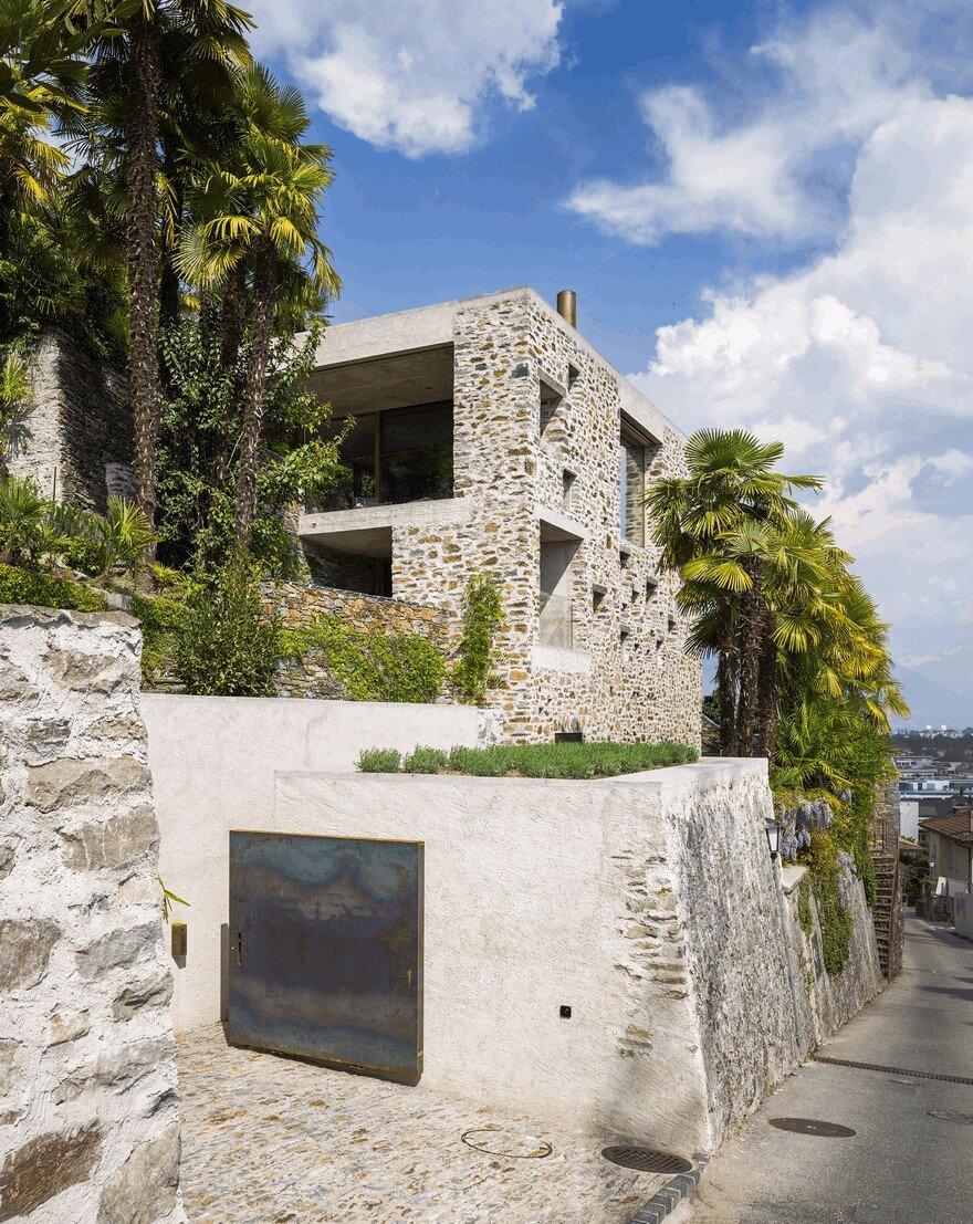 Stunning stone house in switzerland unveils modern interiors - Stone house interior ...