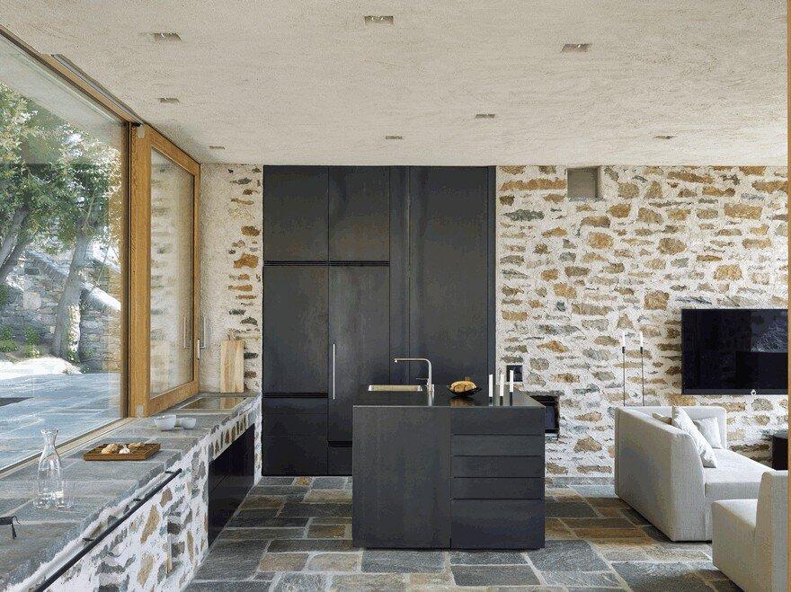 Stunning Stone House in Switzerland Unveils Modern Interiors