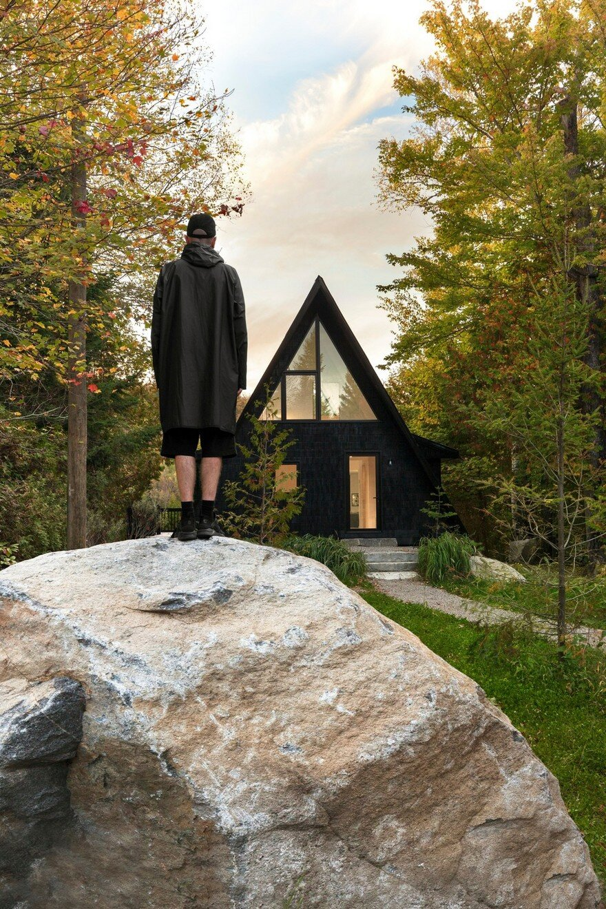 A frame cottage by jean verville architecte for A frame cottage