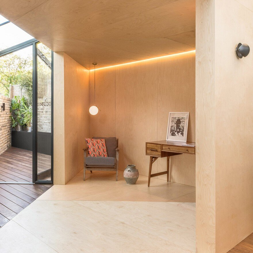 Backyard study extension in hackney london for House extension interior designs