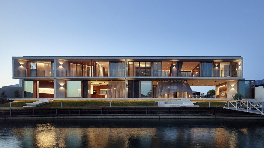 V House on the Edge of Sunshine Coast's Mooloolah River, Queensland