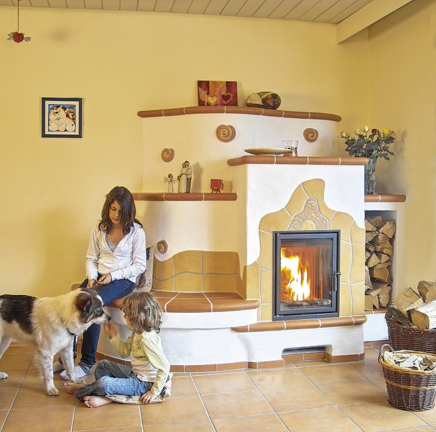Clay heaters and fireplaces