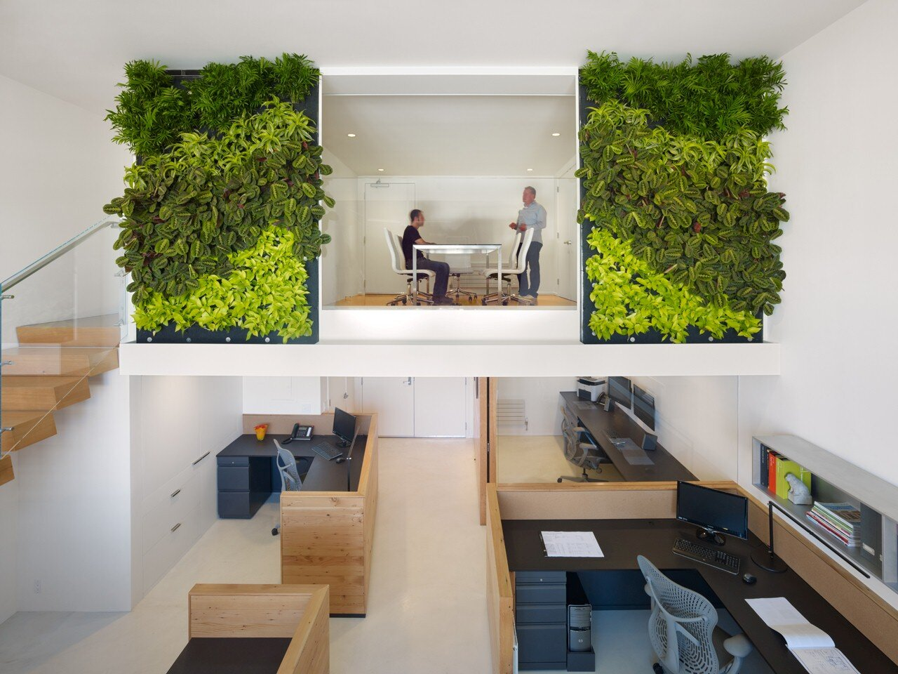 An eco-friendly design and a fresh look in the offices of Buck O'Neill
