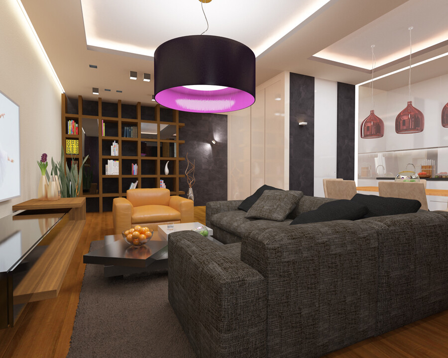 Apartment in Moscow with a functional and minimalism style