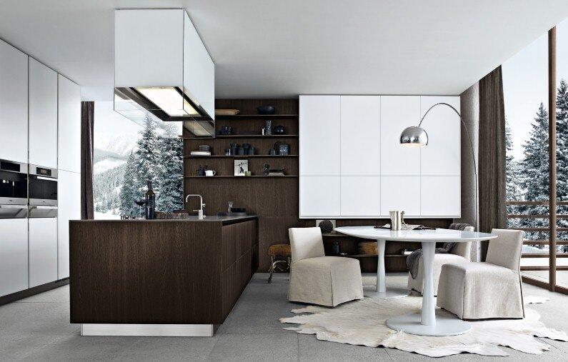 Varenna Kitchens, Spacious kitchens with modern design from Poliform