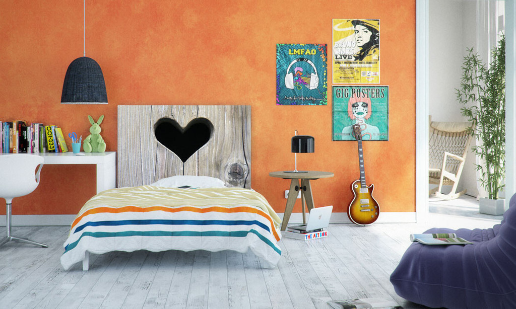 Headboard can bring art into the bedroom