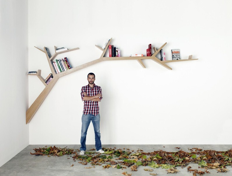 Tree Branch Library – a simple, beautiful and poetic design