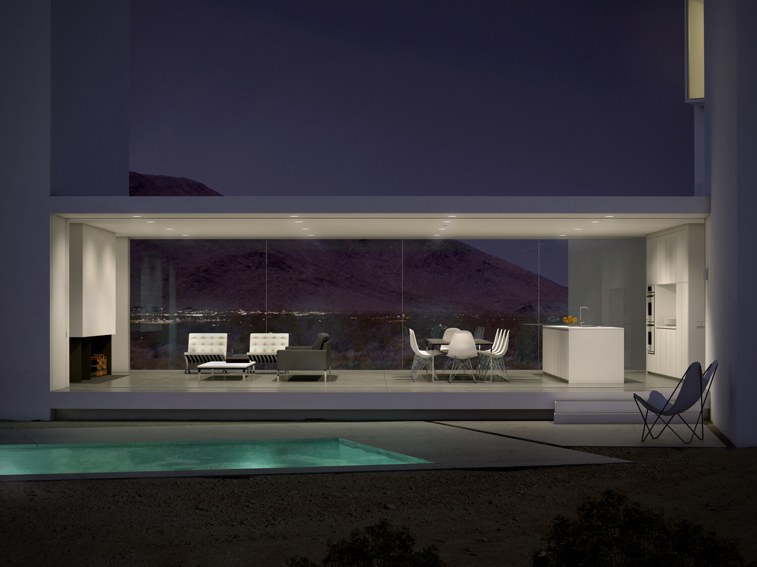 Contemporary architecture and a night in the desert, by Edward Ogosta