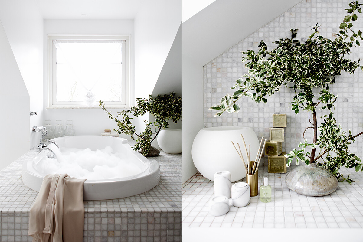 "Daniella Witte and attractive bathroom ""White ala Witte"""