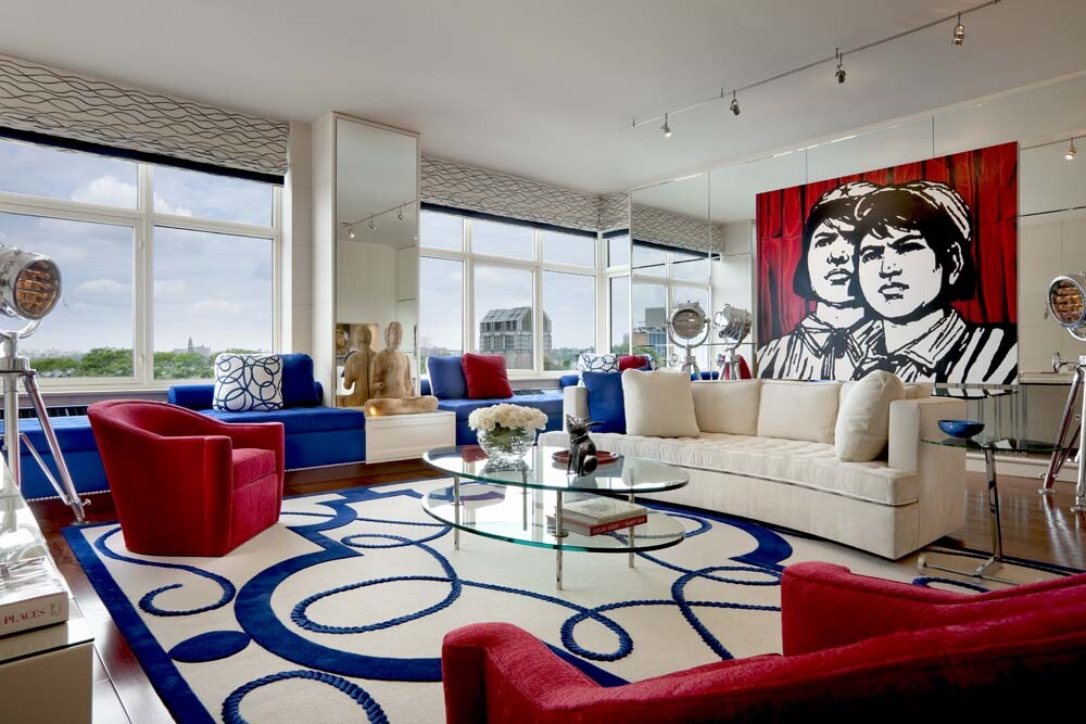 Geoffrey Bradfield design for Oliver Stone's apartment
