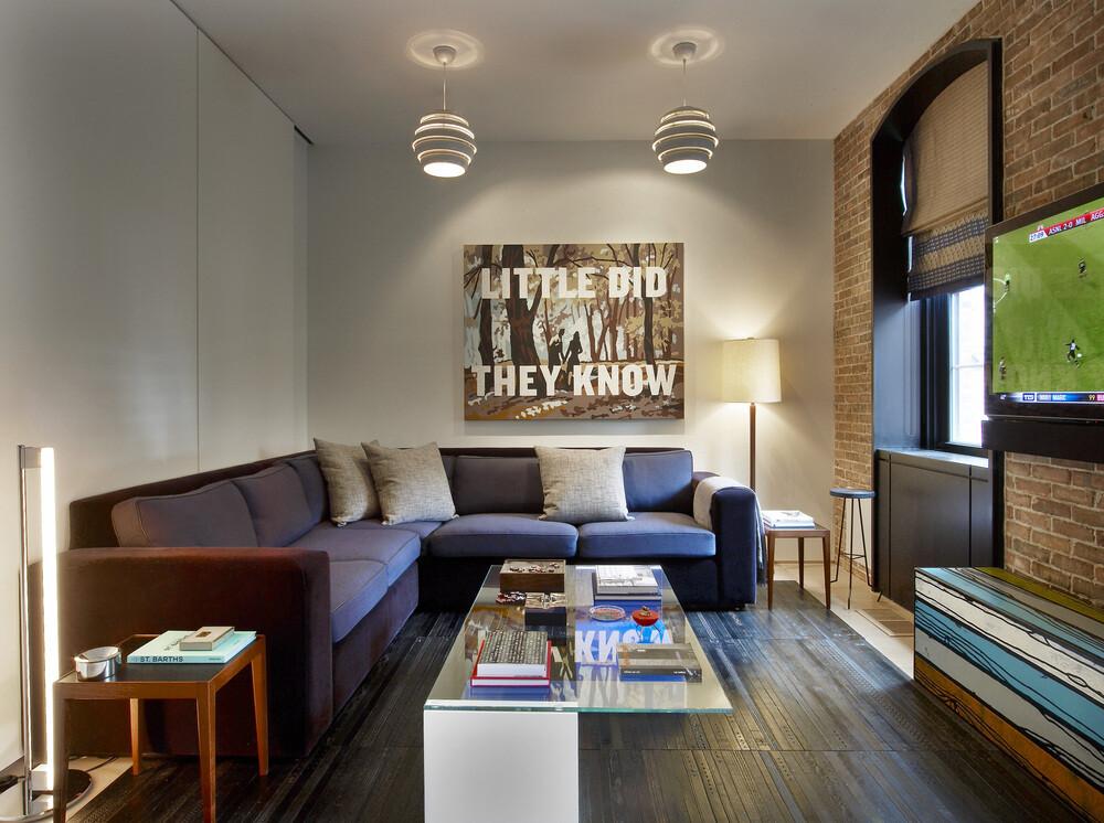 Loft apartment with attractive interior design, in New ...